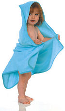 Green Bear bamboo hooded towel