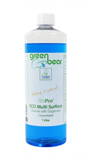 GBPro Natural Eco Friendly Multi surface cleaner + degreaser(concentrated) 1 litre - with ECOLABEL