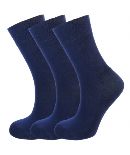 Ladies Bamboo socks - Unique Double Sole (3 x NAVY pack) - Luxurious soft & antibacterial bamboo (4-7) *New