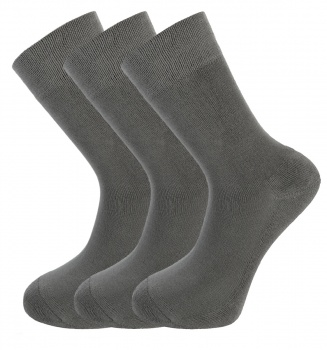 Bamboo socks - High Performance (3 x GREY pack) - luxurious soft & antibacterial bamboo (8-11)