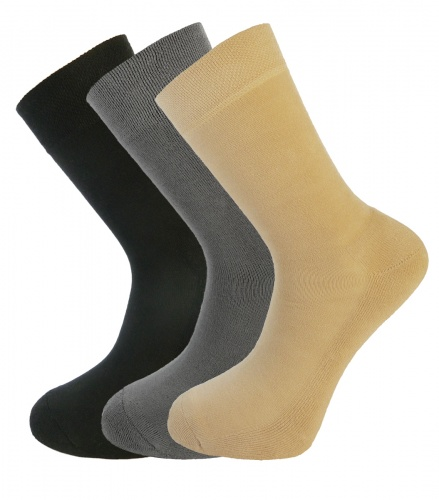 Bamboo socks - Unique Double Sole Multi Pack (BLACK-GREY-STONE) - luxurious soft & antibacterial (*NEW sizes 12-14)