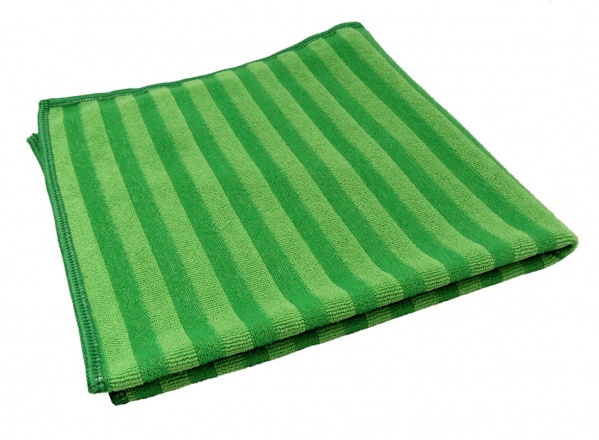 GBPro Green Striped scrub microfibre cloth (40x40cm)