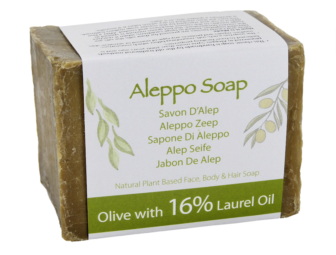 Superior Traditional Aleppo Soap 16% - 200gm bar