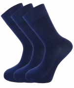 Bamboo socks - High Performance (3 x NAVY pack) - luxurious soft & antibacterial bamboo (8-11)