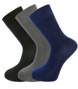 Mens Bamboo socks - High Performance (3 multi colour pack) - luxurious soft & antibacterial bamboo