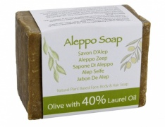Natural Traditional Savon d'alep soap 40% Laurel (Aleppo hand made soap) 200gm