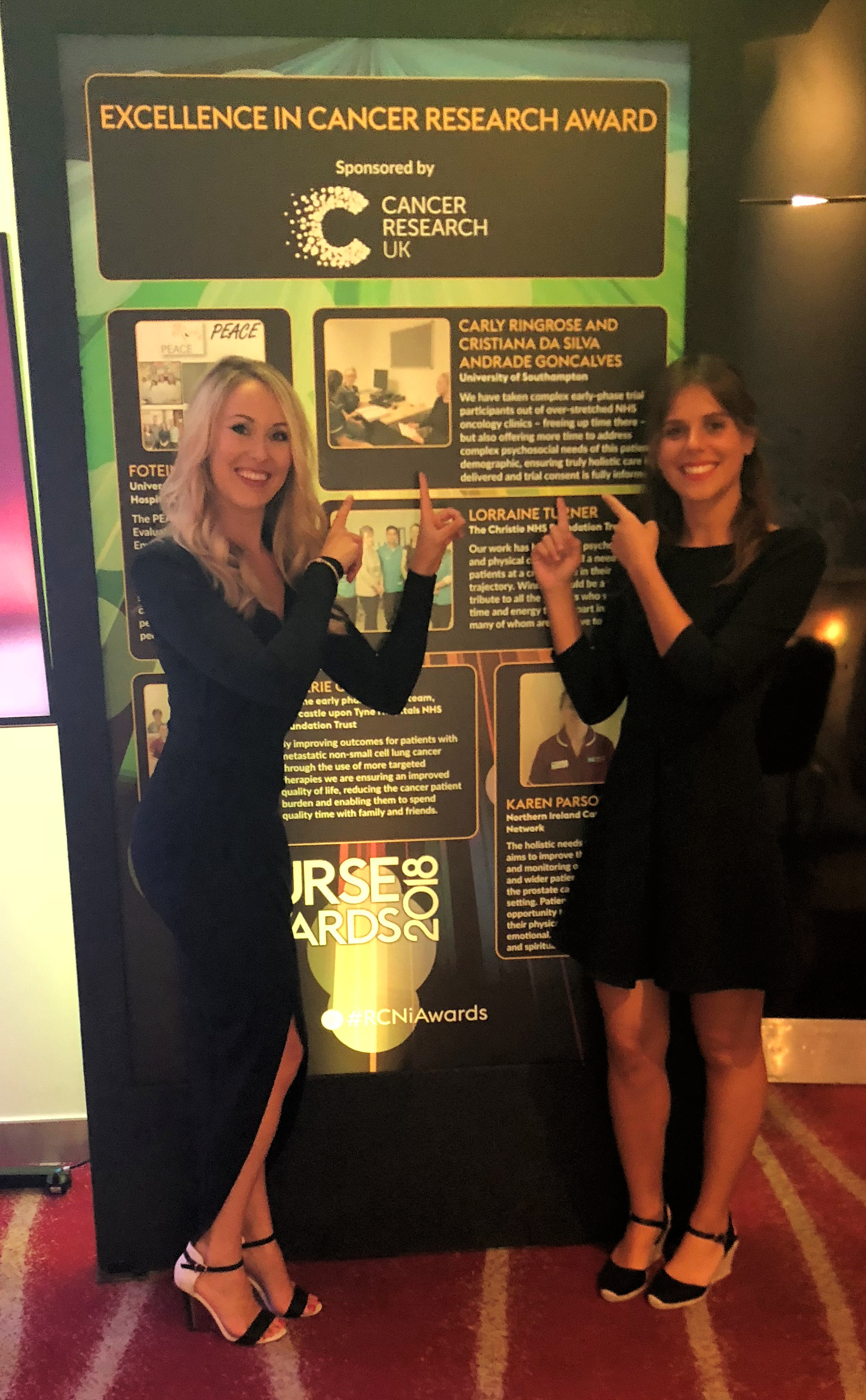 Carly Ringrose & Cristiana Goncalves - Excellence in Cancer Research Awards