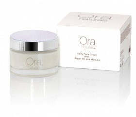 ORA Natural & Organic Daily Face Cream (Argan/Manuka/Plant Extracts) Vitamin E & Omega - 50ml