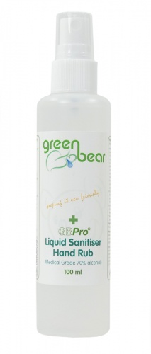 GBPro Liquid Sanitiser Hand Rub Spray (Medical Grade 70% alcohol) - 100ml atomiser