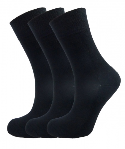 Bamboo socks - High Performance (3 x BLACK pack) - luxurious soft & antibacterial bamboo (4-7)