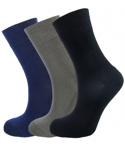 Bamboo socks - Unique Double Sole (3 multi colour pack) - Luxurious soft & antibacterial bamboo (4-7)