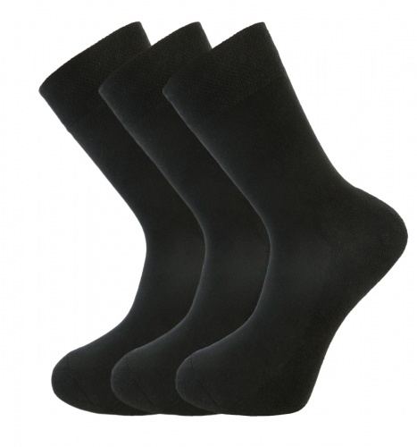 Bamboo socks - High Performance (3 x BLACK pack) - luxurious soft & antibacterial bamboo (8-11)