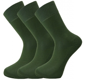 Bamboo socks - Unique Double Sole (3 x GREENpack) - luxurious soft & antibacterial bamboo (8-11)