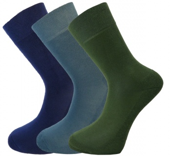 Bamboo socks - Unique Double Sole (3 multi pack) - luxurious soft & antibacterial bamboo - 8-11