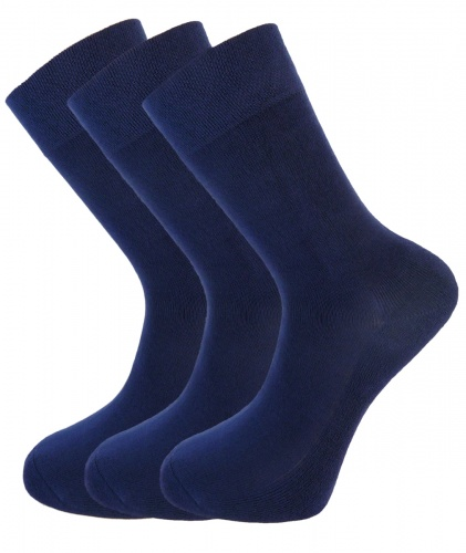 Bamboo socks - Unique Double Sole (3 x NAVY pack) - luxurious soft & antibacterial bamboo (8-11)