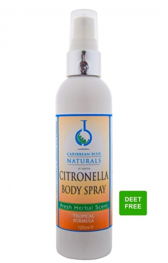 Caribbean Blue - Natural Citronella Body Spray (Insect Repellent)