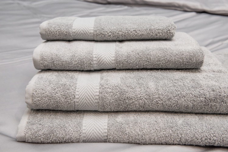 Green Bear Luxurious Bamboo Hand/Bath/Sheet/Hair Towel - Naturally Hypoallergenic and Antibacterial - Cool Grey