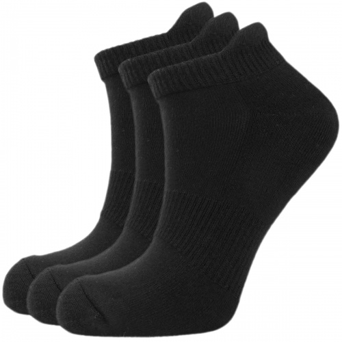Men's/Ladies Unisex Bamboo Trainer ankle socks - Sports (3 pack) Black size 8-11 - Unique Double Sole - soft & antibacterial bamboo