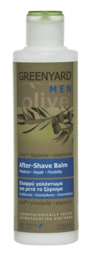 Natural Olive Aftershave Balm - with Liquorice & Chamomile - 200ml