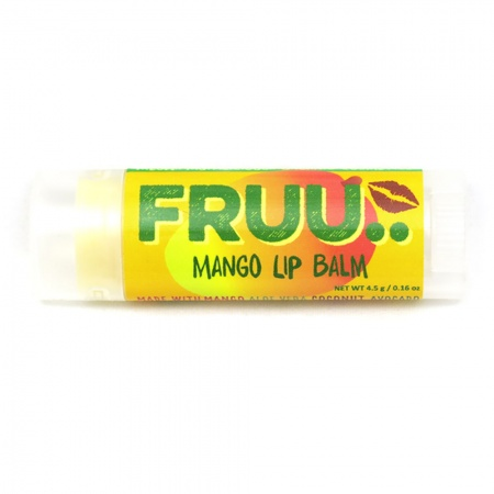 Fruu.. Organic Mango lip balm - Scent and allergen free - Made in the UK