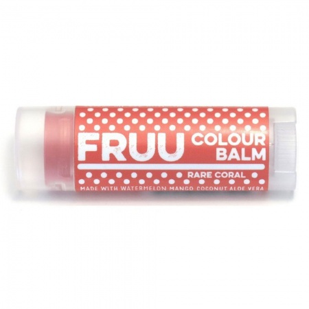 Fruu.. Organic Rare Coral Colour balm - Scent free and allergen free - Made in the UK