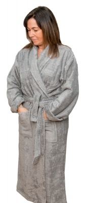Luxurious Unisex Bamboo BATHROBE - Naturally Hypoallergenic and Antibacterial - Cool Grey, Blue, Heather, Natural, White, Teal, Taupe