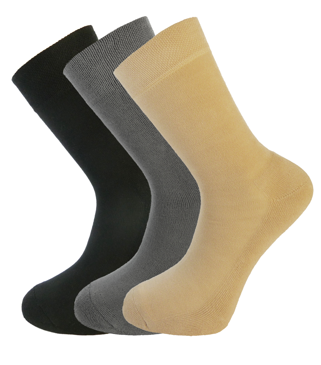 Bamboo Socks Unique Double Sole Multi Pack Black Grey