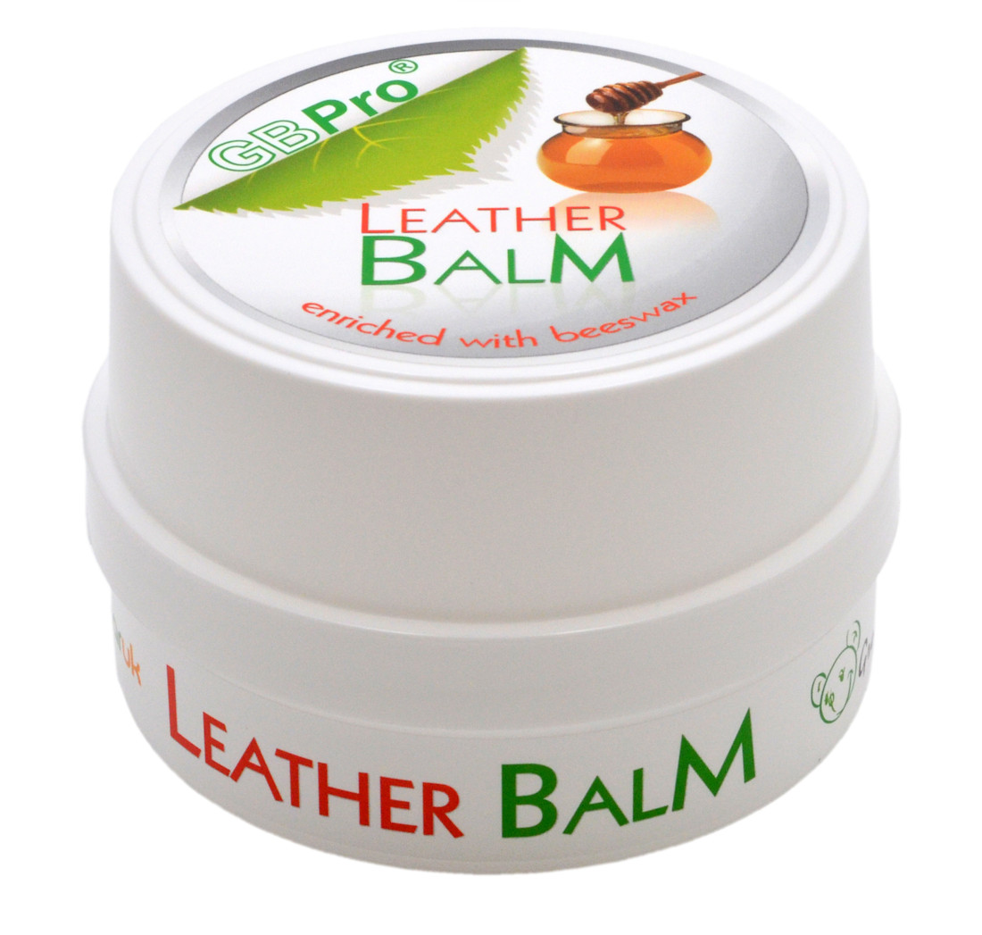 gbpro natural leather balm enriched with natural beeswax 160g green bear. Black Bedroom Furniture Sets. Home Design Ideas