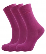 Ladies Bamboo socks - Unique Double Sole (3 Pink pack) - Luxurious soft & antibacterial bamboo (4-7) *New