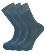Bamboo socks - Unique Double Sole (3 x RAF Blue pack) - luxurious soft & antibacterial bamboo (8-11)