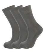 Mens Bamboo Socks - Unique Double Sole (3 x GREY pack) - Luxurious soft & antibacterial bamboo (4-7) *New