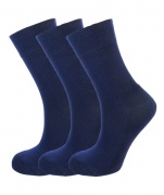 Bamboo socks - Unique Double Sole (3 x NAVY pack) - Luxurious soft & antibacterial bamboo (4-7) *New