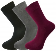 Bamboo socks - Unique Double Sole (3 multi colour pack) - luxurious soft & antibacterial - 8-11