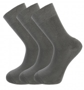 Bamboo socks - Unique Double Sole (3 x GREY pack) - luxurious soft & antibacterial bamboo (8-11)