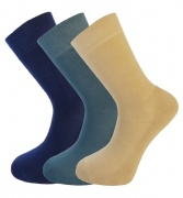 Bamboo socks - Unique Double Sole (3 multi colour pack) - luxurious soft & antibacterial bamboo - 8-11