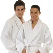 Luxurious Unisex Bamboo Bathrobe (Men's, Ladies) Towelling/Dressing Gown - Large