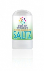 SALTZ Crystal Alum 100% Natural Organic Deodorant stick (handy travel size) - 50gm
